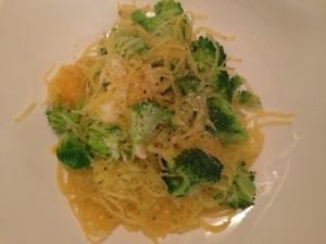 Squash and broccoli